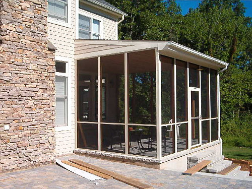 Is porches hair real for Screened in back porch designs